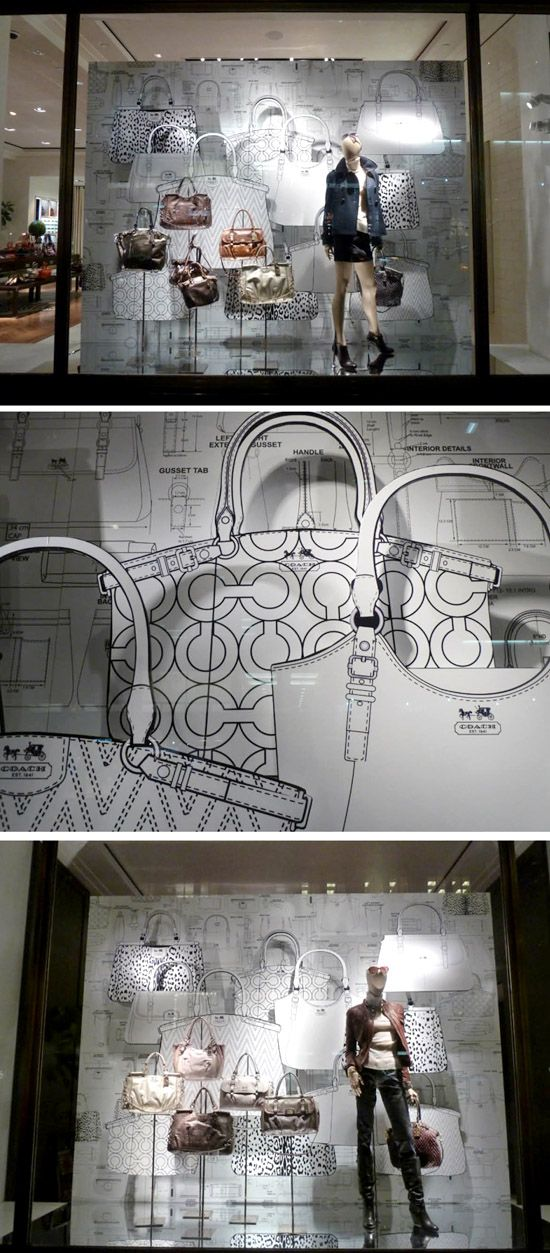Love B Love simple line drawings. Love this window as seen in downtown Manhattan, NYC. You've got to love Coach