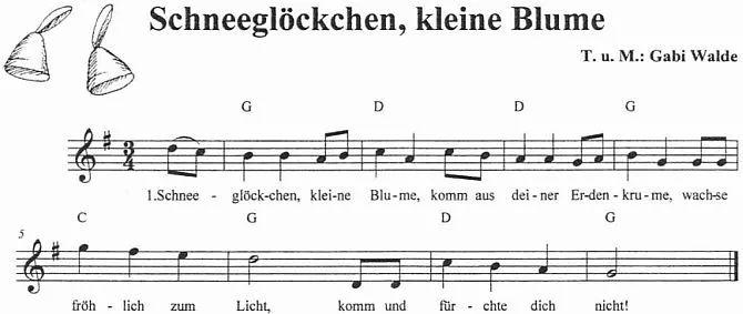 Kinderlied Schneeglöckchen | Frühlingslied, Kinder lied
