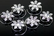 curlies, curly's, bruidssieraden, bruid, huwelijk. http://www.mylemony.nl/product/1530522/wo15-curlies-kristal-bloem