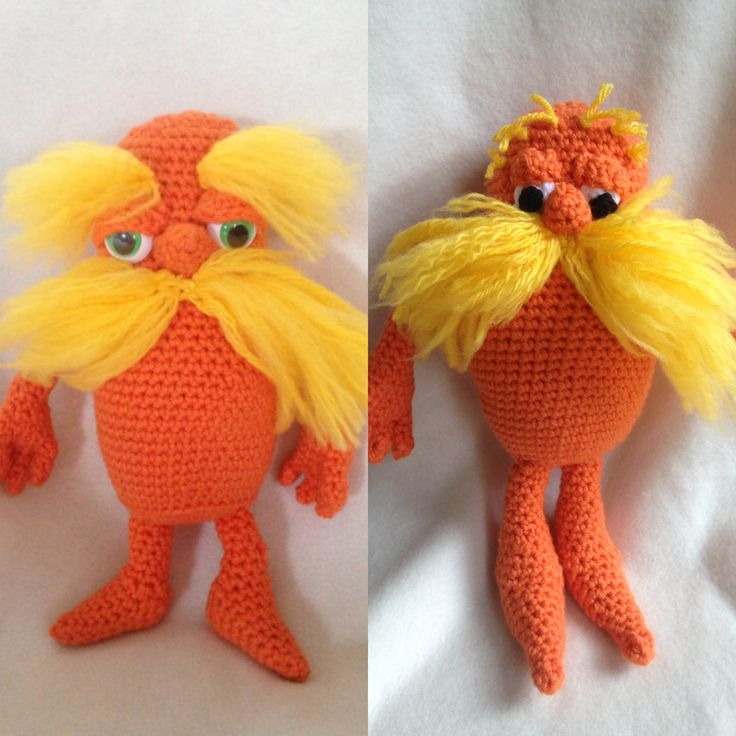 The Lorax in 2 variations. Movie and original story book