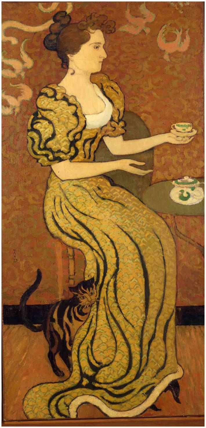 Madame Ranson au chat  | by Maurice Denis (Musee du Prieure, St-Germain-en-Laye, France)