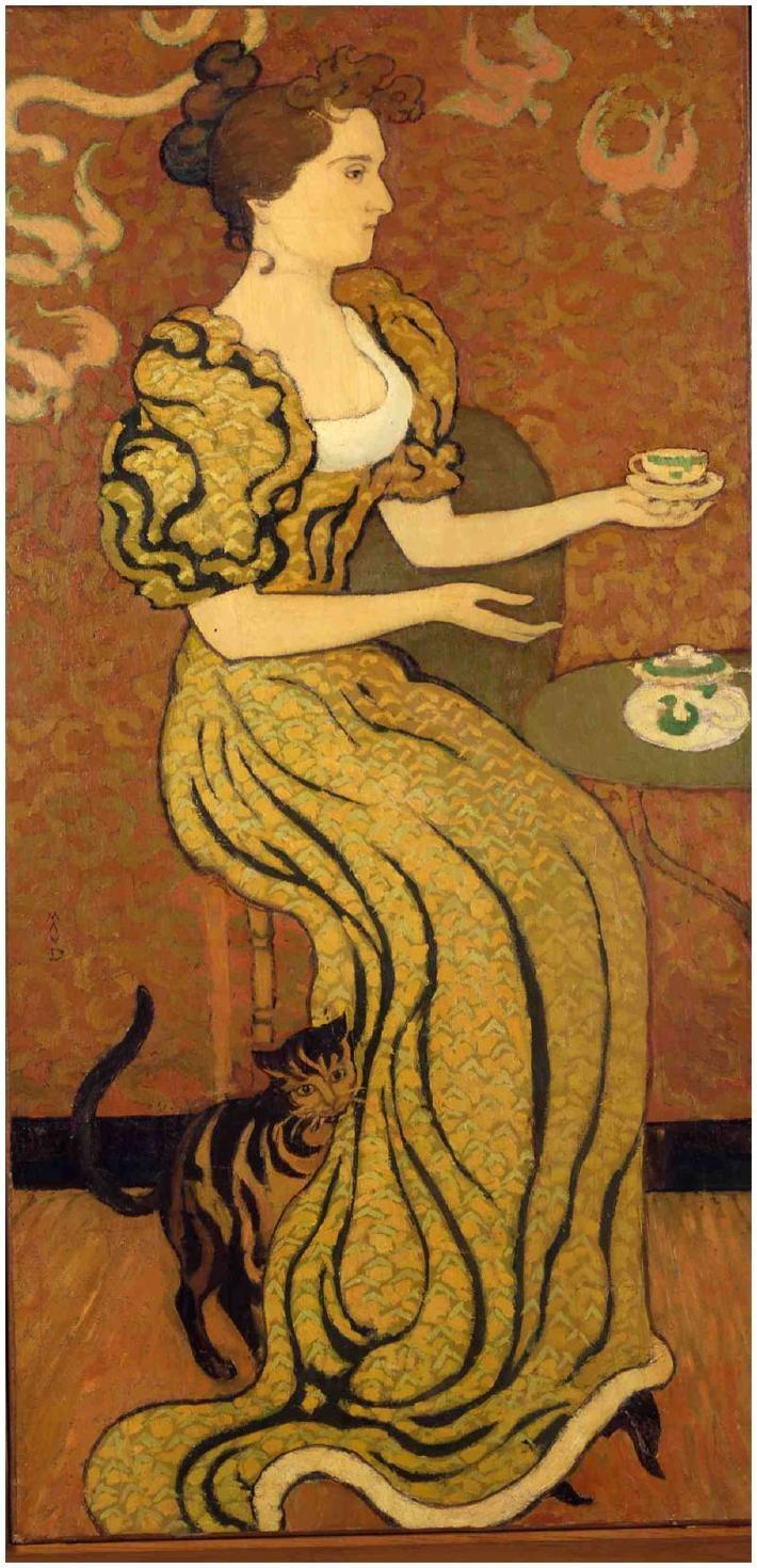Madame Ranson au chat    by Maurice Denis (Musee du Prieure, St-Germain-en-Laye, France)