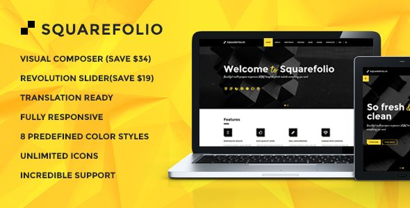 Squarefolio - Business Multipurpose WordPress Theme