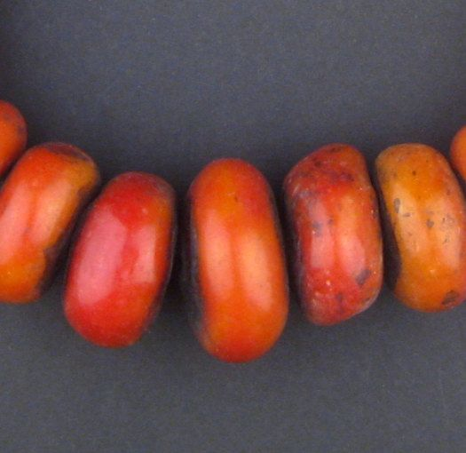 24 Moroccan Amber Resin Beads  Berber Resin Beads  by thebeadchest