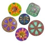 Beautiful Czech glass buttons | Eureka Crystal Beads