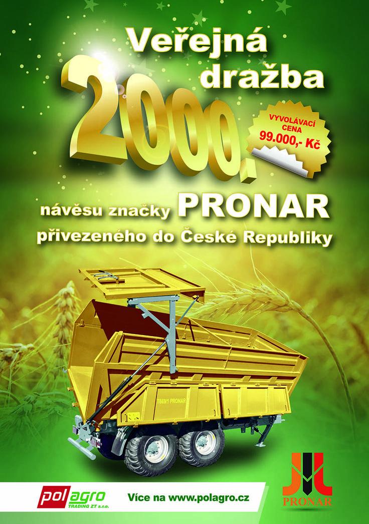 Letní akce od Pronaru - veřejná dražba! | AGROZET České Budějovice, a.s.