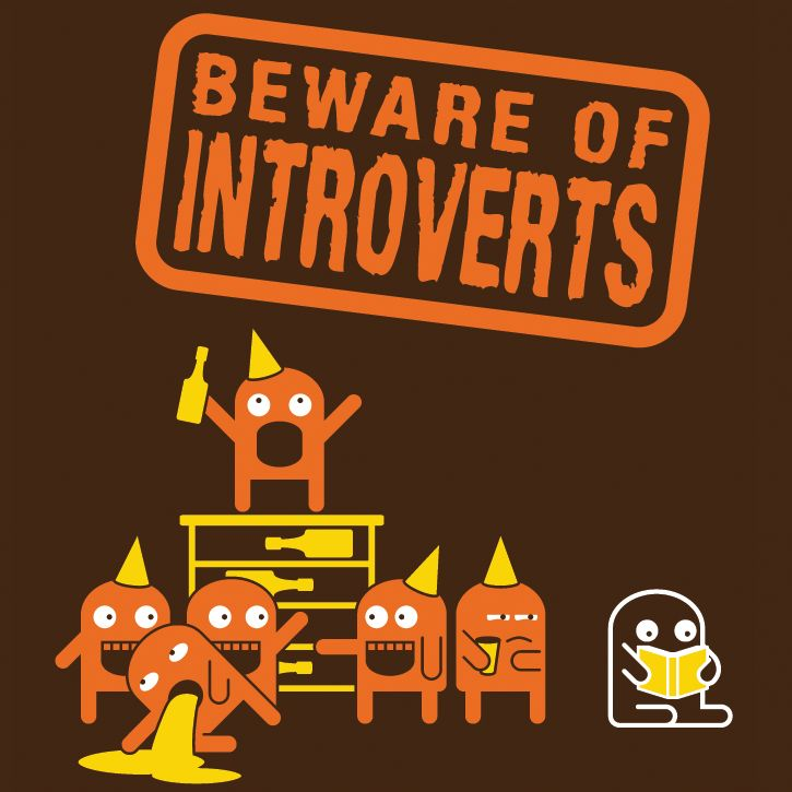 You may be able to spot an introvert by the fact that they're a.) not at the party or b.) that they brought a book and/or have made best friends with the host's dog or cat at said party.