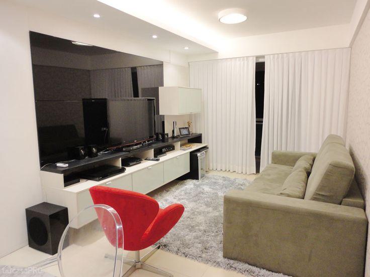 Home Theater Sala De Estar Pequena ~ 68 salas de estar pequenas projetadas por profissionais de CasaPRO