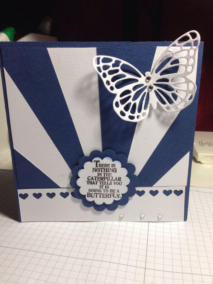 Blue n White theme Starburst card