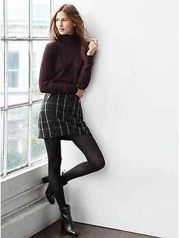 $54.95 Plaid zip mini skirt   Gap