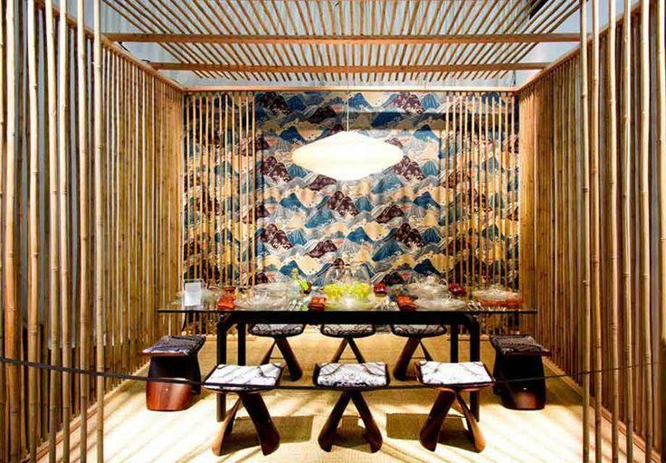 2Michaels revisó las decoraciones asiáticas para poner la mesa