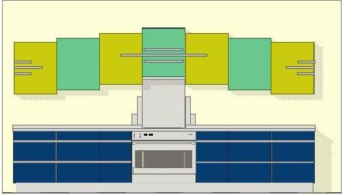26 best glass block in kitchen designs images on pinterest for Art deco style kitchen units
