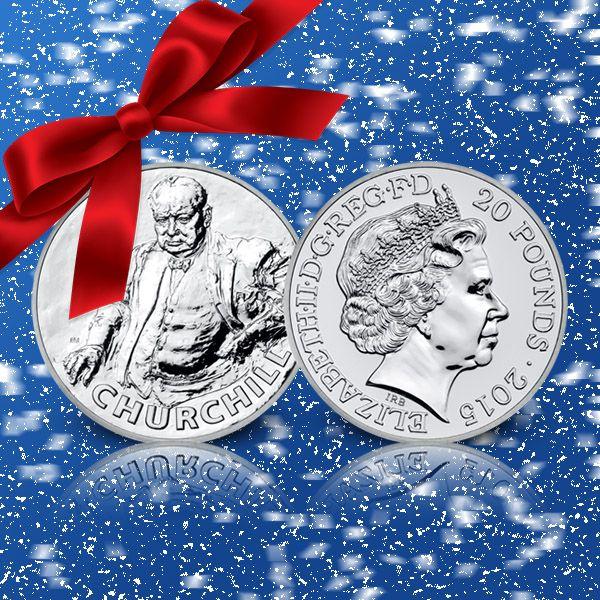 Sir Winston Churchill - 20-pundmynt i 99,9 % silver