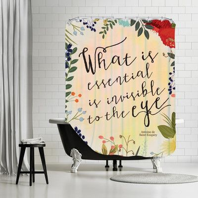 "Americanflat ""What is Essential"" Shower Curtain"
