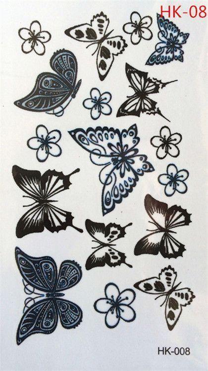 HK-08 Beliebte Mode temporäre Tattoos temporäre wasserdichte Body Art Tattoos #Tattoos – diy tattoo images