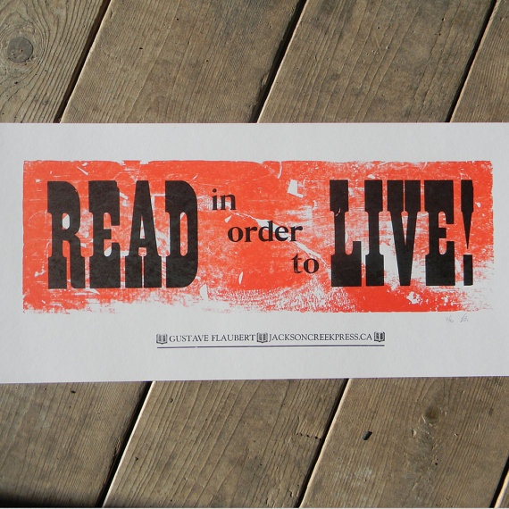 Read to Live by jacksoncreekpress on Etsy, $15.00
