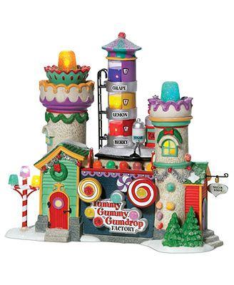 Department 56 Collectible Figurine, North Pole Village Yummy Gummy Gumdrop Factory