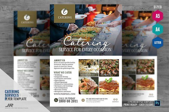 Pin On Catering Service Flyer