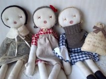 Handmade rag doll one of a kind 25inch french antique by Betty1972, $125.00