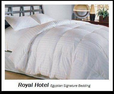 royal hotelu0027s thread count queen size siberian goose down comforter egyptian cotton tc stripe white - Queen Down Comforter