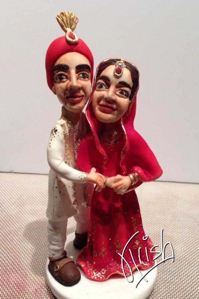 Indian wedding couple customised cake topper