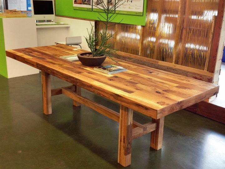 16 best wood tables images on pinterest wood tables for Non wood dining table