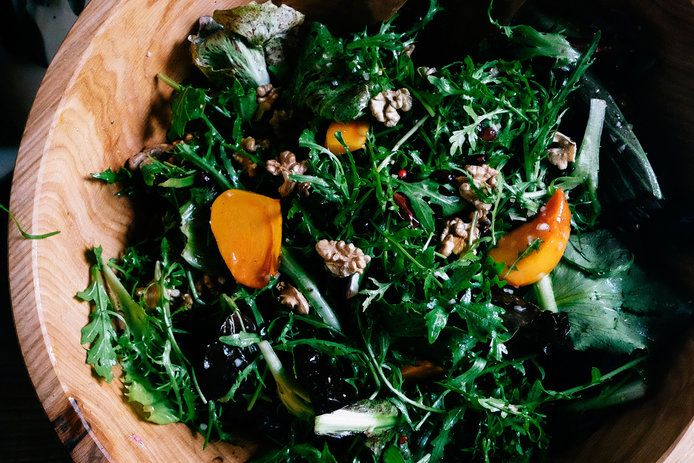 14 fall salads for Thanksgiving: Chicory Salad with Persimmons, Pomegranates, and Walnuts (1116)