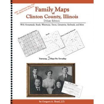 CLINTON, Illinois - Family Maps of Clinton County,  Illinois