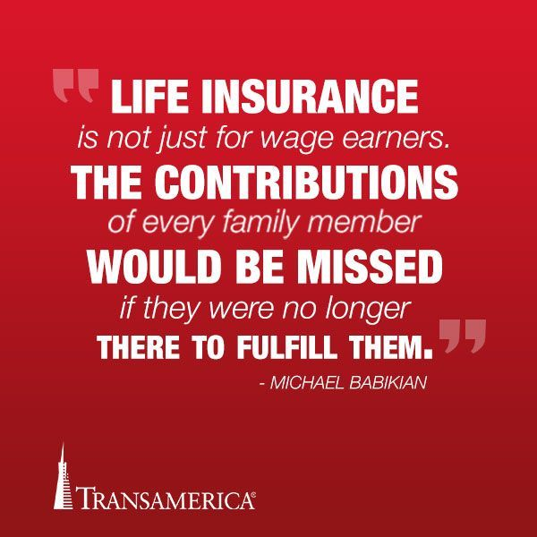 """""""Life insurance is not just for wage earners. The contributions of every family member would be missed if they were no longer there to fulfill them."""" - Michael Babikian #LifeInsuranceFactsTips"""