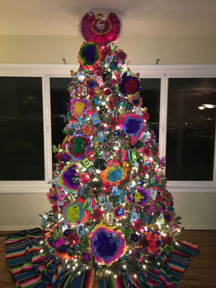 Made by AliciaDrc Mexican themed Christmas tree