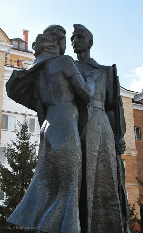 """Farewell"" monument in the city of Tyumen Russia"