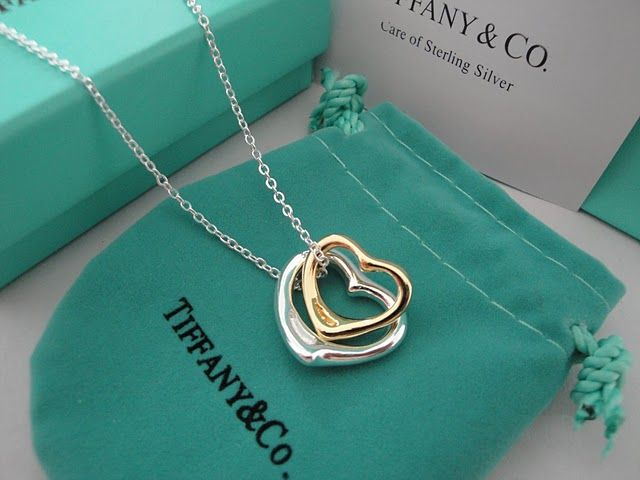 Tiffany Open Heart Necklace Gold Silver Other