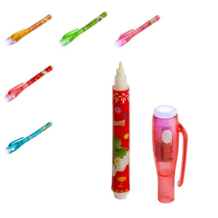 Bolígrafo de tinta invisible y linterna para que los más pequeños saquen al espía que llevan dentro