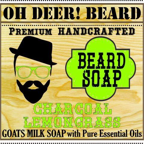 Activated Charcoal Lemongrass Beard Soap | Oh deer! Beard