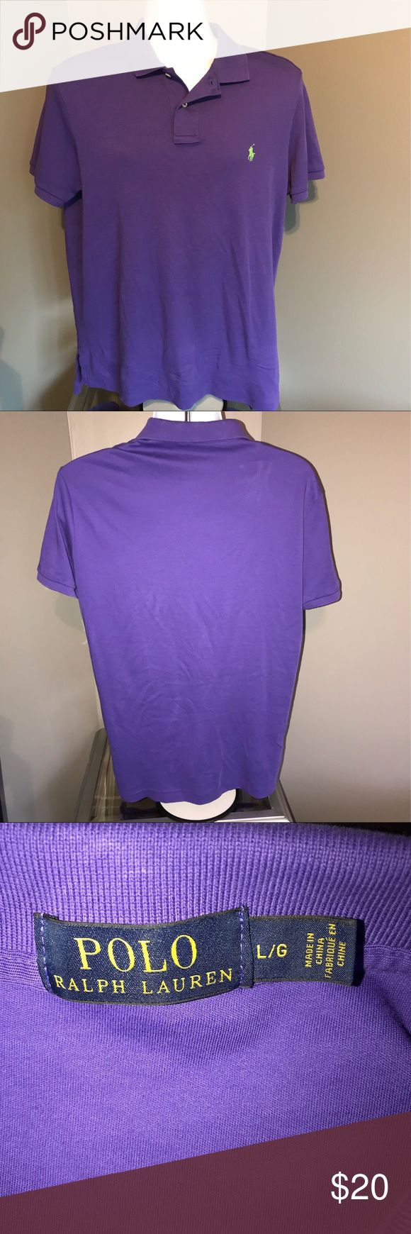 Polo Ralph Lauren Purple Polo Shirt Purple w/ Green pony. In very good condition. Ask any questions! 📦Same/ Next Day Shipping 🚫Paypal/ Trades ✅Bundles 🚫Smoke Free Polo by Ralph Lauren Shirts Polos