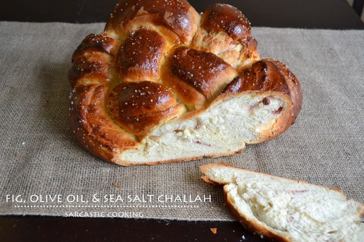Fig, Olive Oil, & Sea Salt Challah | Recipe | Challah, Figs and Sea ...