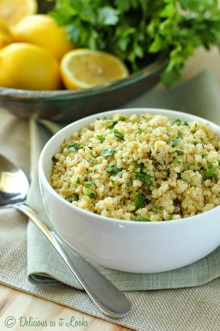 Lemon Herb Quinoa from Delicious as it Looks