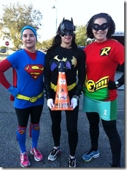 Super Heroes running costumes!