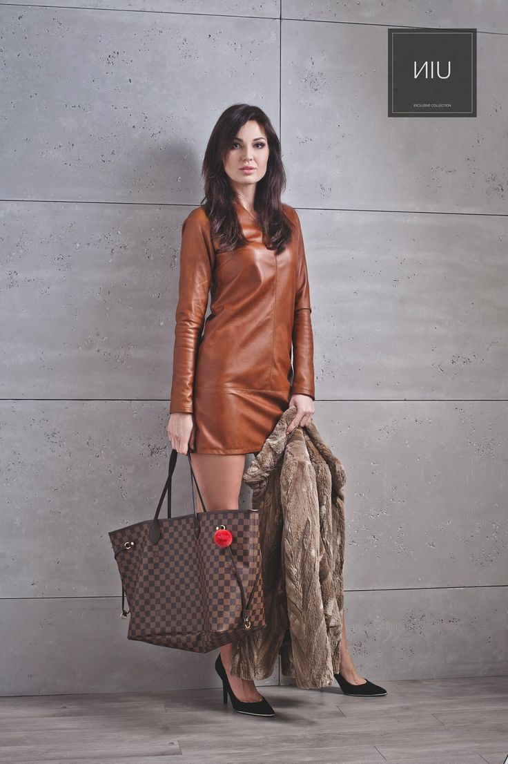 #leather #dress #leatherdress #dresses #perfectlook #coat #fur #furs #fashion #instafashion #exclusive #collection #lovely #follow