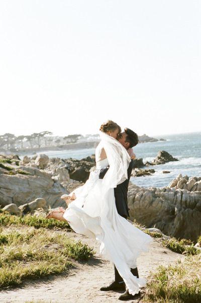 California coastline: http://www.stylemepretty.com/california-weddings/monterey/2014/10/08/monterey-wedding-inspired-by-josh-ritter-song/   Photography: Brian Tropiano - http://briantropiano.com/