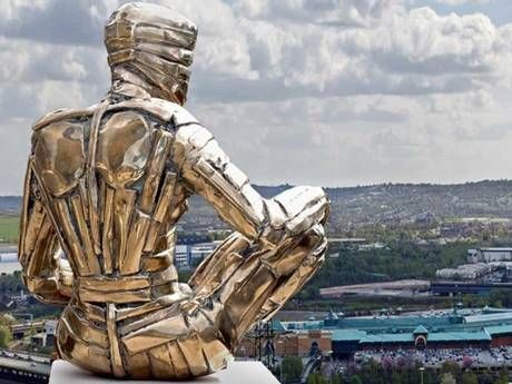 A giant Man of Steel, twice the height of the Angel of the North, is planned for the side of the M1 at Rotherham. Designs for the £2.5m sculpture, which will symbolise the region's steel and coalmining heritage, have been submitted to the local council. Funded by private enterprise, the 40-metre statue is intended to act as a gateway to South Yorkshire and help attract new business.