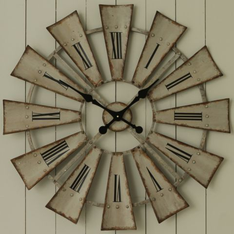 Living Room Rustic Windmill Clock - Casafina £59.99
