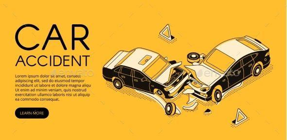 Car Accident Insurance Vector Illustration #Accident, #Car, #Insurance, #Illustr…