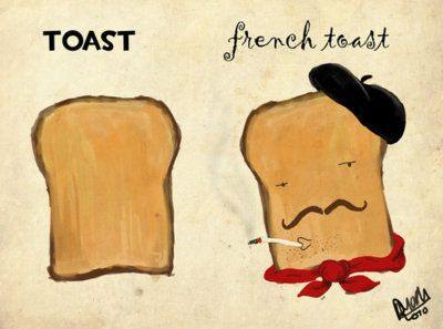 Regular toast vs. french toast