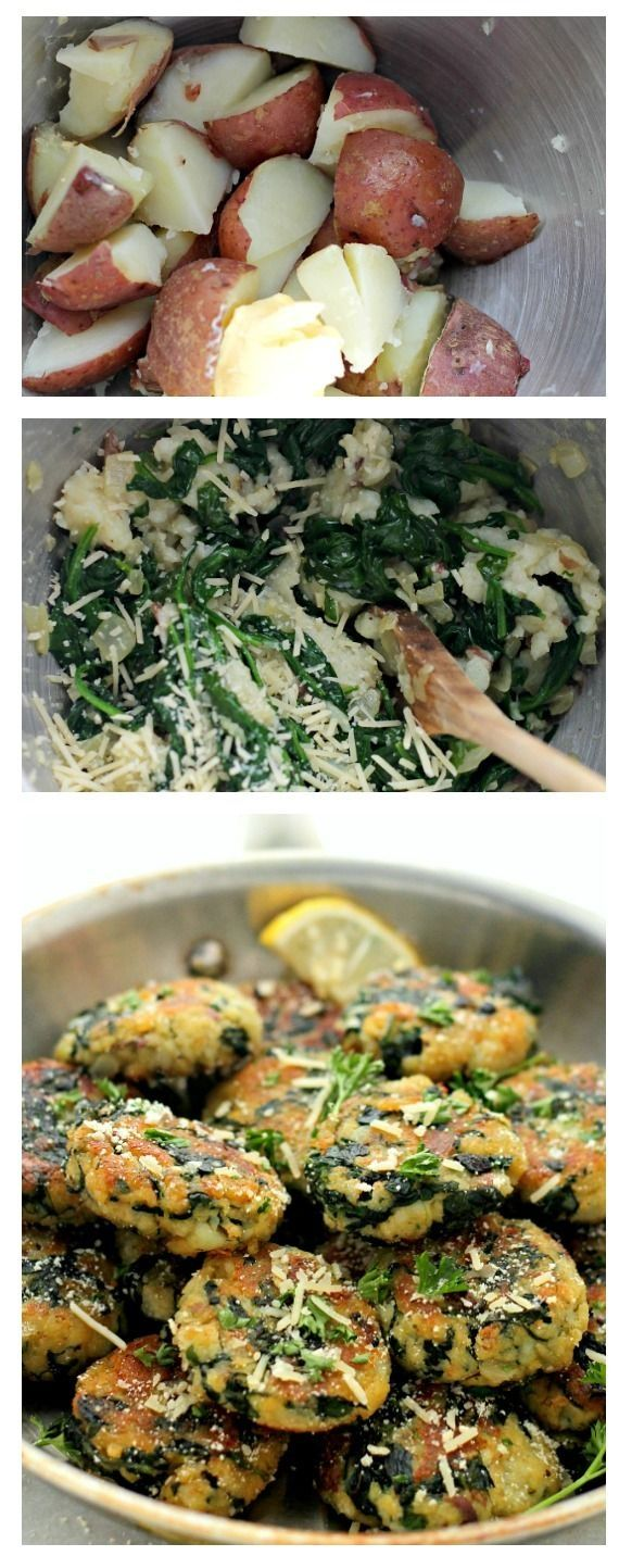 Delicious and flavorful Patties made with a mixture of potatoes, spinach and garlic.