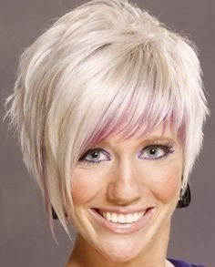 asymmetrical haircuts with bangs   ... bangs, youth haircut for bold girls, Asymmetrical short hairstyle for