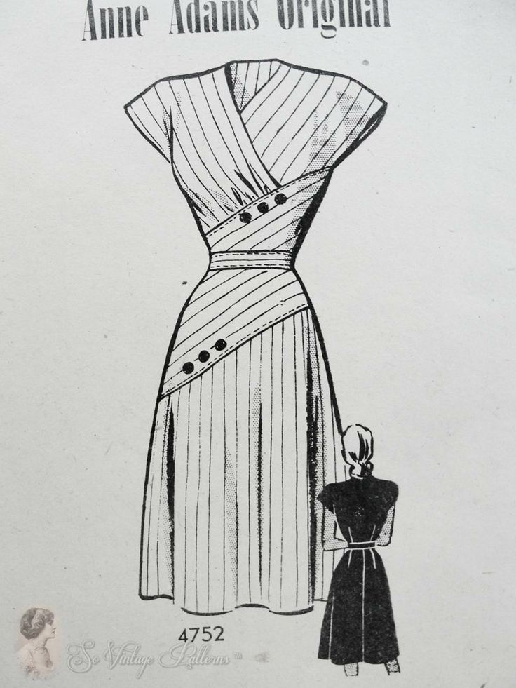 Black and white 40s dress patterns