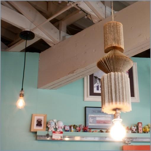 Hanging book lamp