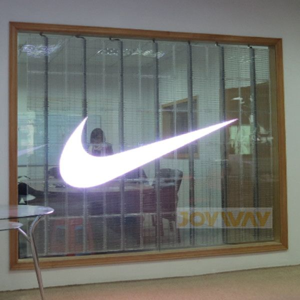 Transparent LED glass window glass wall curtain LED screen display *Transparency 75%  *Only 8KG/Sqm  *Just hanging  * P10/12