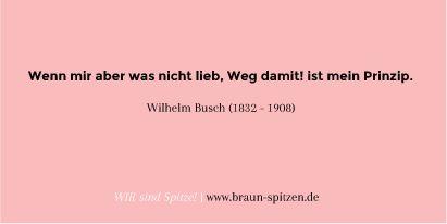 Wilhelm Busch Zitat - Braun Spitzen &Tüll #zitate #quote #lace #life